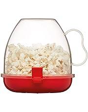 وعاء بلاستيك لصنع الفشار في الميكروويف من كيتشن كرافت، أحمر شفاف
