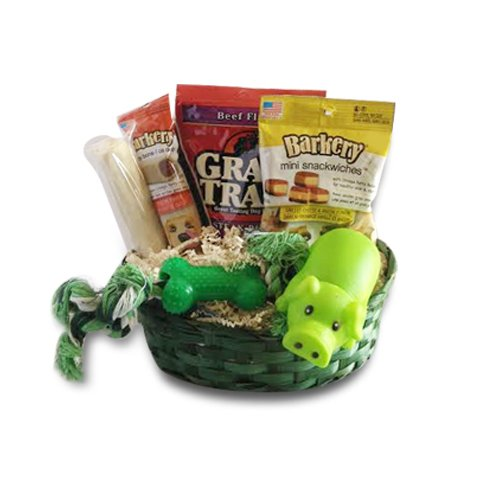 Dog Gift Basket Treats Crewing Toy Holiday Set