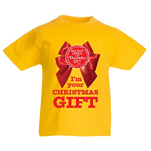 T Shirts for Kids Ideas from Santa, Xmas Holiday Outfits (5-6 Years Yellow Multi -