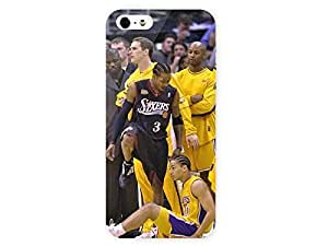 iPhone 5&5S Case TyromnLve Allen Iverson Steps Over TyromnLve After Making A Si Photo Blog Los Angeles Lakers Players 3D Full Wrap