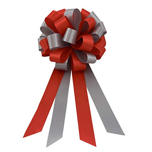 Red and Silver Pull Bows - 8