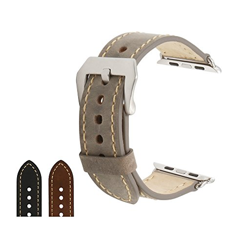 omyzam Leather Replacement iwatch Stainless product image