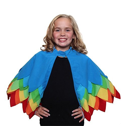 Kids Unisex Parrot, Toucan or Bird of Paradise Style Cape with (Parrot Halloween Costumes Child)