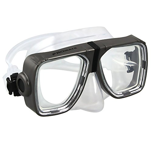 tical Corrective Lens on Each Side Snorkel Mask, Titanium ()