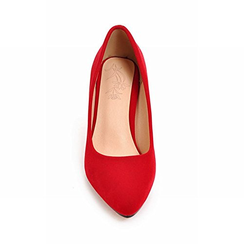 Carolbar Womens Pointed Toe Sexy High Heels Stilettos Pumps Shoes Red 7yxrEnlkQ4