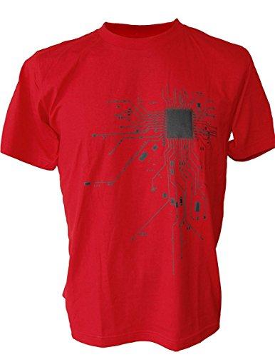 90d6b7e430492 SODAtees COMPUTER Chip CPU CORE HEART Men s T-Shirt Geek NERD - Buy Online  in UAE.