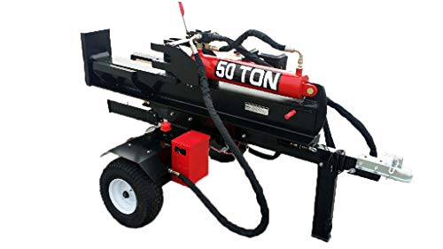 50 Ton, 15HP 420cc, Hydraulic Gasoline Powered Log Wood Splitter Cutter Machine, with 22GPM 2 Stage Pump and 4 Way Splitting Wedge