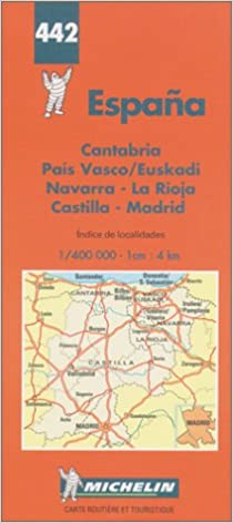 Map Of Northern Spain.Michelin Spain Northern Map No 442 Michelin Maps Atlases