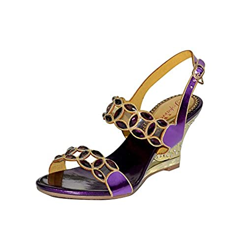 unicrystal Femme Talon Haut Cale Diamante Sandales de mariage soirée fête  bal chaussures taille ... 60aefd253cb0