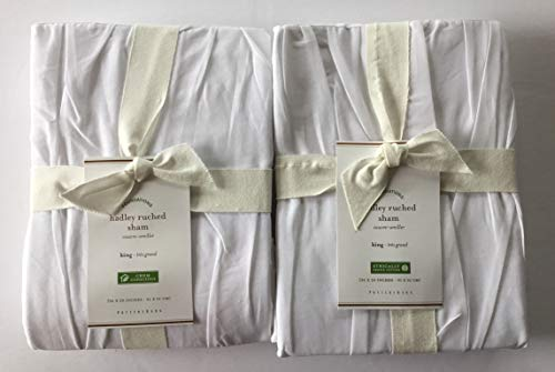 Pottery Barn HADLEY RUCHED King Shams ~Set of Two~ for sale  Delivered anywhere in USA