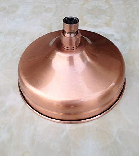 manguera de extensi/ón para brazo de ducha de pared y brazo de ducha est/ándar 1//2 Alcachofa de ducha de cobre rojo antiguo redondo de 8 cm