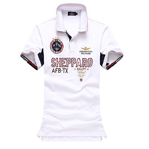 メンズ ポロシャツ 半袖 Tシャツカジュアル 紳士ポーツゴルフ シャツおしゃれ 2018人気新品3カラー (ホワイト, XXL)