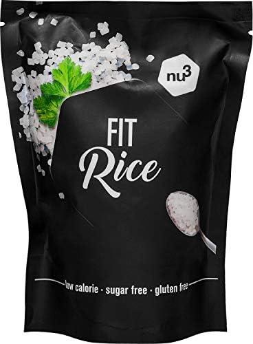 nu3 Arroz Fit - 350 g de arroz konjac bajo en calorías - 14 kcal en cada porción - Natural rice con glucomanano - Granos de arroz sin gluten y sin ...