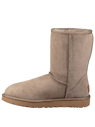 UGG Women's Classic Short ll Boot Twinface Sheepskin Suede, Brindle, 6 -