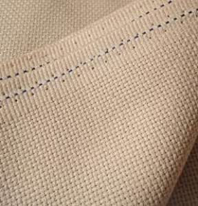 Color : Beige, Size : 50x50cm HXBG 100/% Cotton 14CT Embroidery//Cross Stitch Fabric Canvas Aida Cloth-Make Any Size
