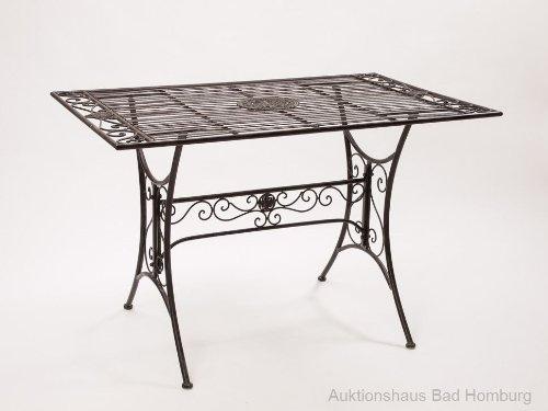 Amazon De Gartentisch Eisen Metall Schmiedeeisen Eisenmobel Tisch Braun