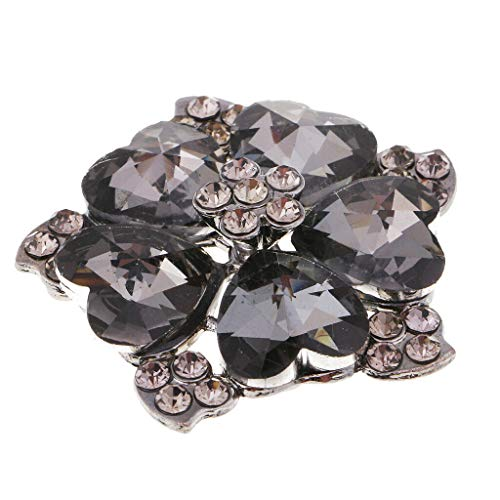 MOPOLIS Alloy Rhinestone Crystal Shank Buttons for DIY Costume Sewing Craft | Color - 4.3cm Black -