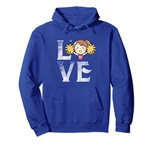 Unisex Love Cheerleading Hoodie Happy Cheerleader Cheer Costume XL: Royal Blue