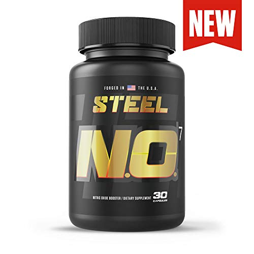 Steel Supplements N.O.7 Pre Workout Nitric Oxide Booster Blood Flow Pump