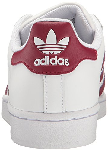 Adidas Originals SuperstarFashion la zapatilla de deporte White/Cardinal/Metallic/Gold