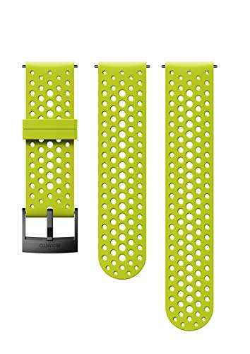 Suunto Watch Strap, 24mm, Silicone, Lime Black- Athletic, S+M: 120-230 mm ()