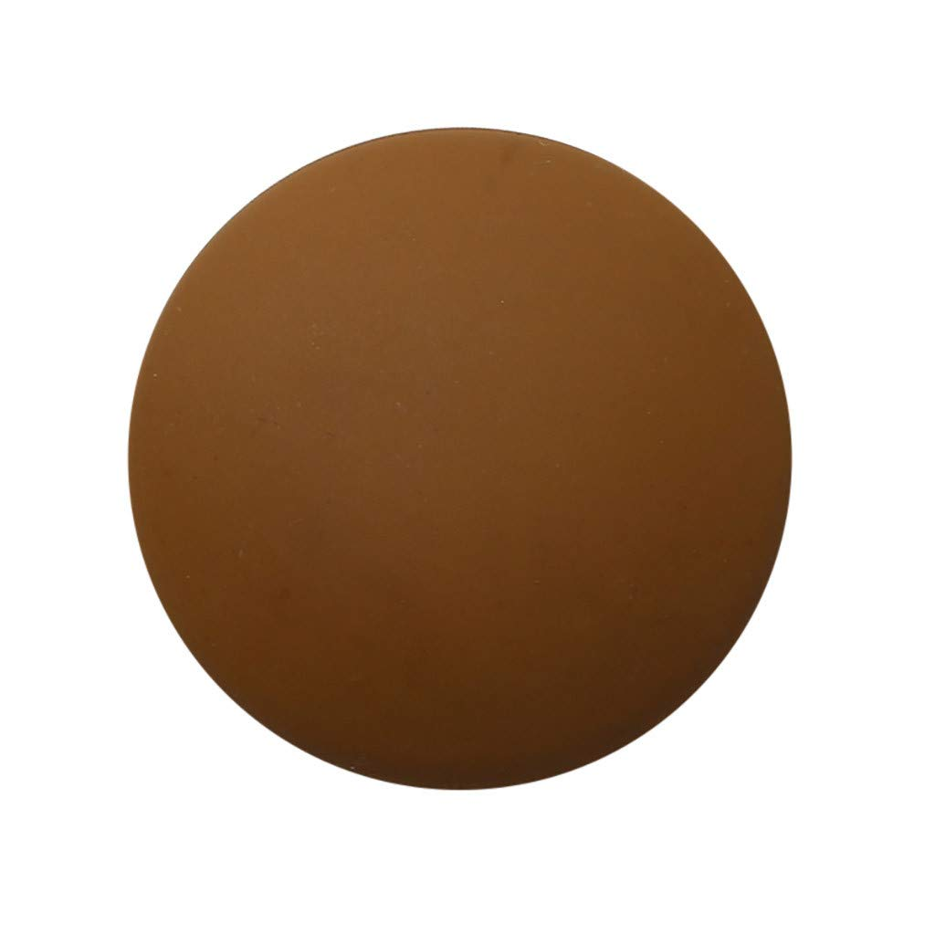 Door Knob Wall Shield, White Black Round Soft Rubber Wall Protector Shockproof Crash Pad Self-Adhesive Door Handle Bumper Door Stopper Pads, Tuscom (Coffee)