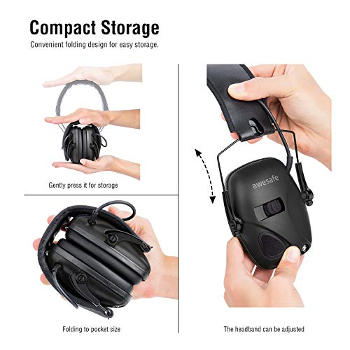 awesafe GF01+ Réduction du bruit Maximiser le son Sécurité électronique Casque antibruit, Protection de l'ouïe, Idéal… 5