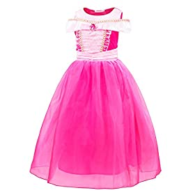 - 41Z7YFhH9 2BL - Filare Rapunzel Aurora Costume Dress Up Princess Girls Birthday Party Cosplay Clothes