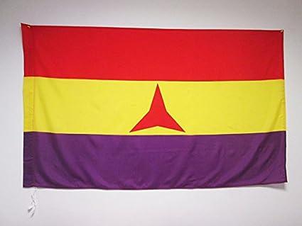 AZ FLAG Bandera ESPAÑA Republicana BRIGADAS INTERNACIONALES 150x90cm para Palo - Bandera DE LA Republica ESPAÑOLA 90 x 150 cm: Amazon.es: Jardín