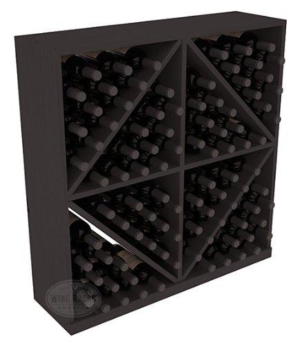 Wine Racks America Ponderosa Pine 96 Bottle Solid Diamond Bin. 13 Stains to Choose (Diamond Bin Wine Rack)