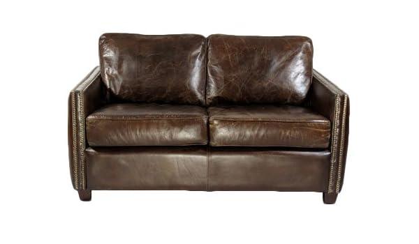 Salón sofá Rust 2-plazas vintage-cuero: Amazon.es: Hogar