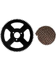 25 H Tand Ketting Tandwiel + Ketting 144 Links Tandwiel 2 Takt As fit voor Elektrische Mini Moto pocket Bike ATV Quad Accessoire