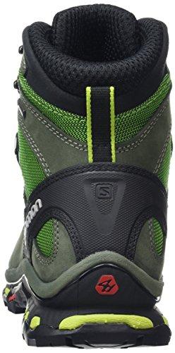 Salomon Quest 4d 2 Gtx, Zapatos de High Rise Senderismo para Hombre Verde (Tonic Green/Night Forest/Green Glowow)