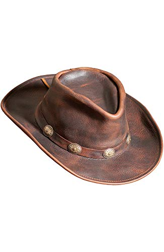 Overland Sheepskin Co Raging Bull Leather Cowboy Hat for $<!--$99.00-->