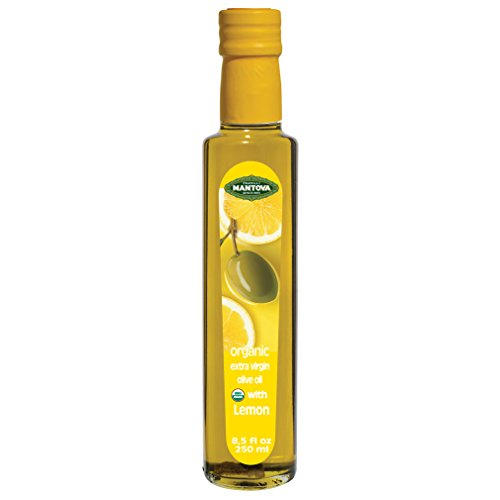 Mantova lemon Organic Extra Virgin Olive Oil, 8.5-Ounce Bottles (Pack of 3)