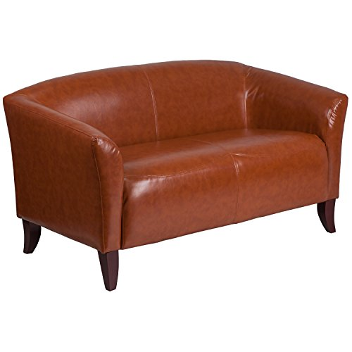 Flash Furniture HERCULES Imperial Series Cognac Leather Loveseat
