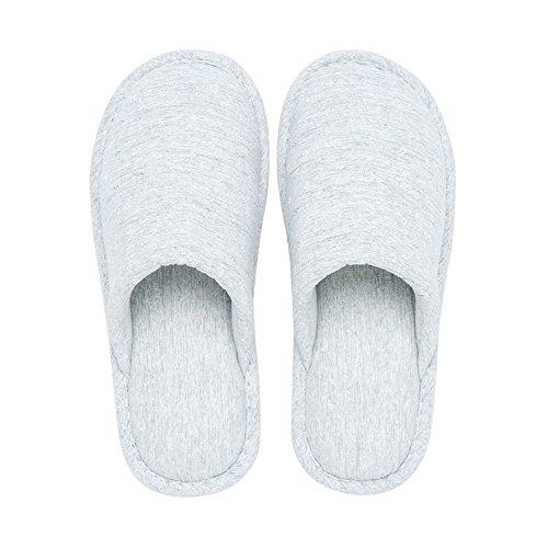 ZHIRONG Pantuflas de algodón de las mujeres Parte inferior gruesa Interior En el interior Antideslizante Mantenga el otoño y el invierno calientes Zapatillas de algodón y de lino Color Tamaño Opcional Amarillo