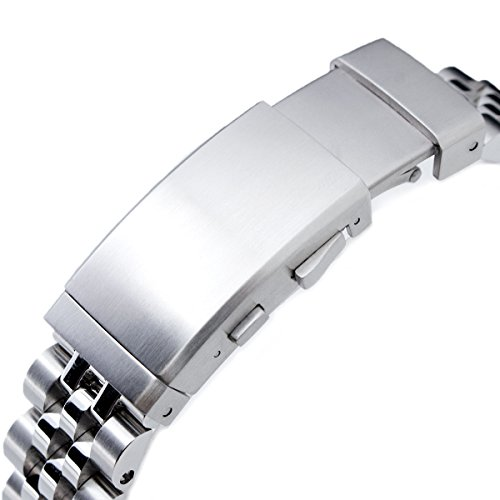 22mm ANGUS Jubilee 316L SS Watch Bracelet Straight End 1.8 Universal, Ratchet Buckle Brushed by Seiko Replacement by MiLTAT (Image #2)