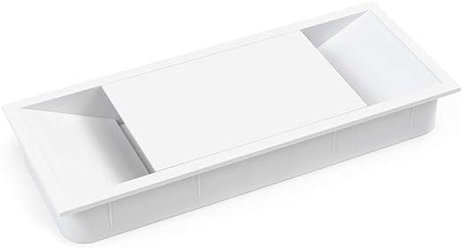 Emuca - Tapa pasacables para encastrar en escritorio/mesa ...