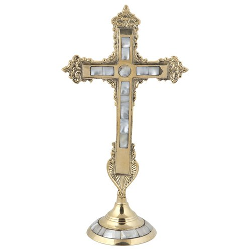Handmade Christian Greek Orthodox Blessing Cross With Fildisi (79) (Christmas Byzantine Catholic Liturgy)