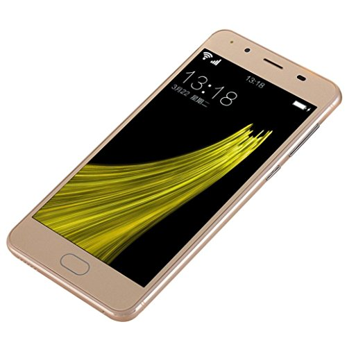 Creazy 5''Ultrathin Android 5.1 Quad-Core 2G+8G 4G/GSM WiFi Bluetooth Dual Smart phone,clearance sale (Khaki)