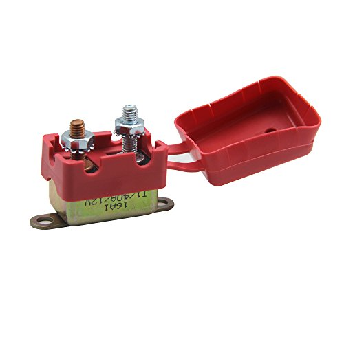 - ZOOKOTO 12V 40A Auto Circuit Breaker Automatic Reset Fuse Stud Bolt with Plastic Cover 40 Amp