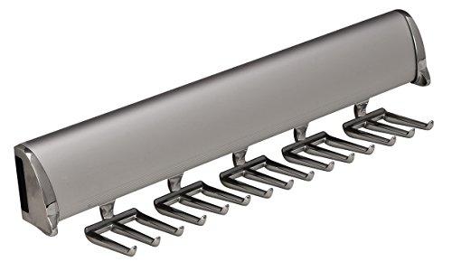 Hafele 15 Hook Tie Rack, Synergy Elite Collection, Full Extension Slide, 12