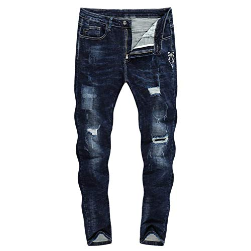 A Stretch Dritta Da 2018 Abbigliamento 3131 Thick Strappati Zlh Neri Gamba 36 Size Jeans Adelina Uomo Biker Pantaloni color WCXqS18Ixw