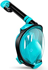 Greatever G2 Full Face Snorkel Mask with Latest Dry Top System,Foldable 180 Degree Panoramic View Snorkeling M