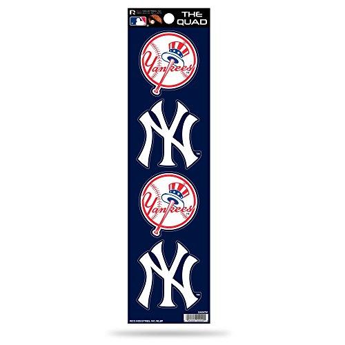 York Yankees Decal New - MLB New York Yankees Quad Decal