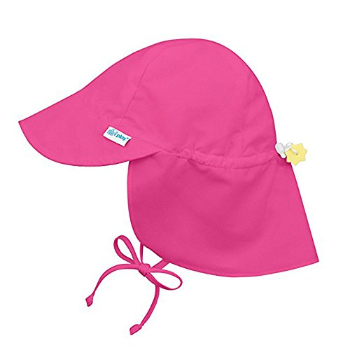 (Tantisy ♣↭♣ Toddler Brim Sun Protection Hat Summer UPF 50+ All-Day Sun Boys Girls Fashion Adjustable Flap Sun Hat Visors Hot Pink)