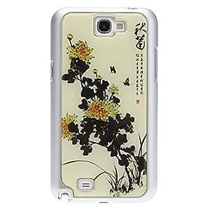 MOFY-Caso duro de la alta calidad del crisantemo Patr—n para Samsung Galaxy Nota 2 N7100