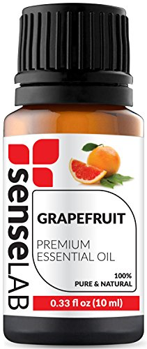 Grapefruit Essential Oil by SenseLAB – 100% Pure, Natural, Organic and Highly Concentrated; Therapeutic Grade Oil 0.33 fl oz (10ml)
