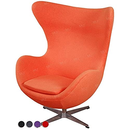 MLF® Arne Jacobsen Egg Chair In Premium Wool(Orange)